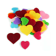 Buddly Crafts Felt Shapes - 50pcs Hearts #F2