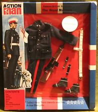 vintage action man 40th anniversary no3 british dressed marine card boxed