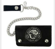 AUTHENTIC LUCKY 13 BLACK SIN CHOPPER CHAIN WALLET MENS MOTORCYCLE TATTOO GOTH