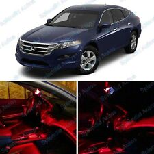 Brilliant Red Interior LED Package For Honda Crosstour 2010 & Up (9 Pieces) #56