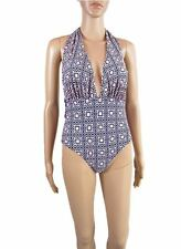 Womens Vtg Retro Look Summer Beach Halter Swimsuit Bikini Monokini sz M 12 AS88