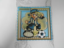 PK 2 FOOTBALL CRAZY BLUE AND WHITE EMBELLISHMENT TOPPERS FOR CARDS GRANDSON