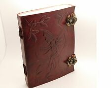Fairy / Faery Book Of Shadows Wicca Diary Spell Keeper Handmade Leather Journal
