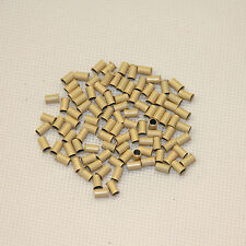 100pcs Copper Micro Beads for I Tip Hair Extensions 3.0 x 6.5 mm blonde