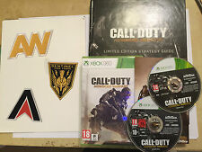Xbox 360 juego Call of Duty Advanced Warfare + Cool Edición Limitada Guía De Estrategia