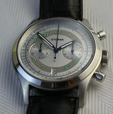 New Eterna Pulsometer 1942 Automatic Chronograph Heritage Watch Limited Edition