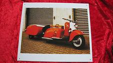 Blechschild 40 cm IWL Berlin SR 59 Oldtimer Roller Moped DDR Bike Schild alt