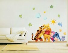Winnie the Pooh Wall Stickers Kids Nursery Bedroom 70 x 50cm