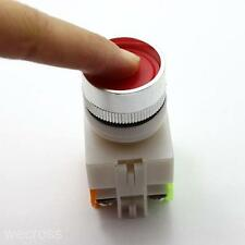 Hot Electrical 22MM Emergency Stop Switch Flat Momentary Red Push Button 1NO 1NC