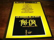 TAXI GIRL - PUBLICITE ALERTE GENERALE !!!!!!!!!!