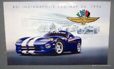 10 Posters -1996 Dodge Viper GTS Indy 80th Indy 500 Pace Car Poster Original NOS