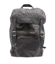 Yves Saint Laurent Delave Leopard Canvas & Leather Backpack