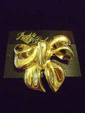 RARE Parklane Gold Tone Big Bow Ribbon Pin Brooch