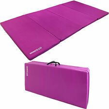 DTX Fitness Purple Folding 8' Large Execise Floor Mat Yoga/Pilate/Gymnastics/Gym