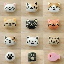 Japanese Cutie 3D Cat Bento Rice Mold And Seaweed Nori Cutter Set DIY Maker Tool
