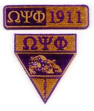 OMEGA PSI PHI  -  Military Patch Set