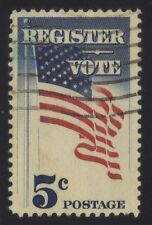 [JSC]1960 USA Register Vote 5c US Postage stamp depicting US flag