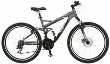 "mountain disc brakes bike bicycle sale mongoose mens 26"" full dual suspension"