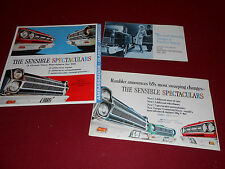 3 DIFFERENT 1965 AMC RAMBLER AMERICAN, CLASSIC, AMBASSADOR BROCHURE, CATALOGS