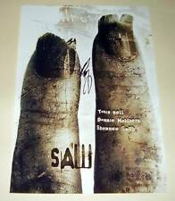"""SAW II CAST X2 PP SIGNED POSTER 12""""X8"""" BELL & WAHLBERG"""