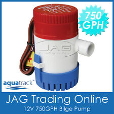 12V SUBMERSIBLE BILGE WATER PUMP 750 GPH/ 2850LPH Boat/Marine/Bait Livewell Tank