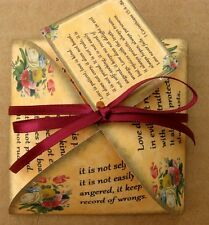 Bible verses wedding gift bag party favor table decoration set of 6 with ribbon