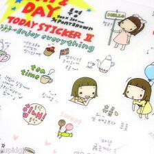 Pony Brown Day & Day Sticker Diary Planner Scrapbook Decor Index Washi Cute Tape