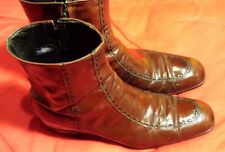 FLORSHEIM Designer Collection Ankle Boots Soft Leather Brandy Burgundy 9AA Nice!