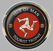 ISLE OF MAN TOURIST TROPHY TT ILE DE MAN BIKER STICKER RACING TRACK 75mm (IA072)
