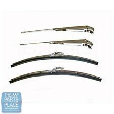 1964-67 GM Cars Wiper Arm & Blade Set - 4 Pieces