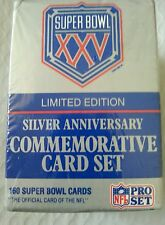 NFLPro Set Super Bowl XXV Limited Edition Silver Anniversary Commemorative Set