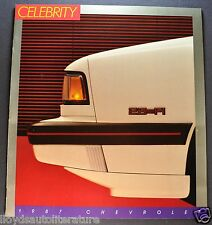 1987 Chevrolet Celebrity Brochure CL Eurosport Sedan Wagon Excellent Original 87