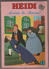 HEIDI dalla TV N.7 ARRIVA LA NONNA !  a fumetti comics editrice edierre 1978