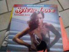 "12""  MAXI 45 TOURS SYLVIA LOVE INSTANT LOVE RCA FRANCE SLEEVE FAIR VINYL EX+"