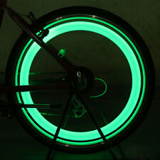 1pair Green LED Motorcycle Cycling Bike Wheel Tire Valve Flashing Light Car Lamp