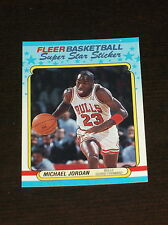 1988-89 FLEER MICHAEL JORDAN STICKER CARD #7 BULLS *CENTERED* VERY NICE