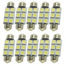 10X 41mm  5050 6SMD Festoon Wedge Dome Interior LED Light Tail Bulb White