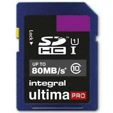 INTEGRAL 16GB ULTIMA PRO SDHC 80MB/S CLASS 10 MEMORY CARD FAST SPEED SD CARD
