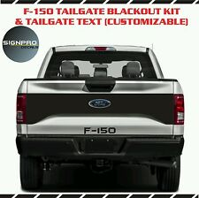 F150 Blackout Tailgate 2015-17 Ford Blackout Roush Style Decal + Text