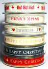 1m Berisfords 15mm Printed Christmas Ribbon Choice Designs For Card Making Craft