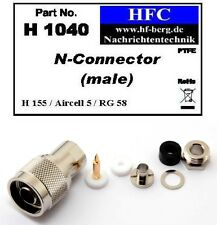 1 Pieza conector N para H 155 / Aircell 5 / RG 58 Cable coaxial 50 Ω (H1040)