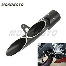 Aluminum Motorcycle Exhaust Muffler Pipe Silencer For Yamaha R6 06-15 Black New