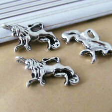 10x Retro Tibetan Silver Animal Lion Pendant Charms DIY Jewelry Accessories /772