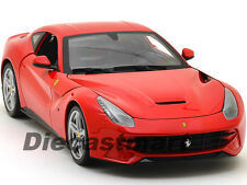 FERRARI F12 BERLINETTA RED 1:18 DIECAST MODEL CAR BY HOTWHEELS BCJ72