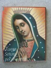 Large Modern Retablo Ex Voto - Virgin of Guadalupe Pray for Us - Mexico