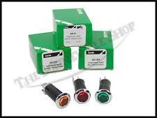 GENUINE LUCAS RED AMBER GREEN WARNING LIGHT SET PN# 99-1207 G 99-1208 99-1209