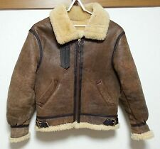 AVIREX B-3 SHEEPSKIN SIZE38  FLIGHT LEATHER  JACKET   BOMBER