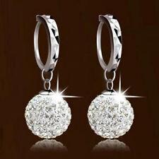 New Women Ladies Elegant Crystal Rhinestone Ball Ear Stud Hoop Earrings Jewelry