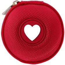 Ohrhörer-Etui mit Herz, kleine Tasche für Kopfhörer Kabel, Shuffle, nur 7cm Ø