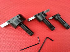"3pc Fly Cutter Set 1/2"" Shanks For Face Milling Cutting Lathe Turning HSS Bits"